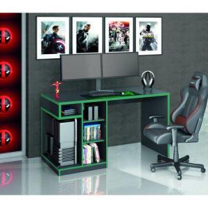 Mesa Gamer IDL XP 500 Siena Móveis Preto/Verde R$207