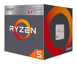 Processador AMD Ryzen 5 2400G Cache 6MB 3.6GHZ AM4, YD2400C5FBBOX - R$650