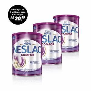 Compre 3 Unidades de Nestlé Neslac Comfor Lata 800g por R$ 20,99 cada