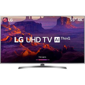 "Smart TV LED LG 55"" 55UK6530 Ultra HD 4k com Conversor Digital 4 HDMI 2 USB Wi-Fi Dts Virtual X Sound Sync 60Hz Inteligencia Artificial"