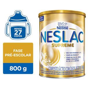 Neslac Supreme 8 embalagens por R$28 (cada)