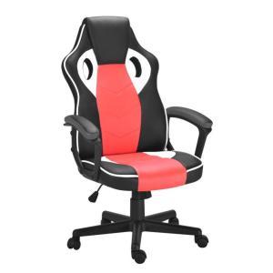 Cadeira de Escritório Presidente Gamer Scifi Preta e Vermelha