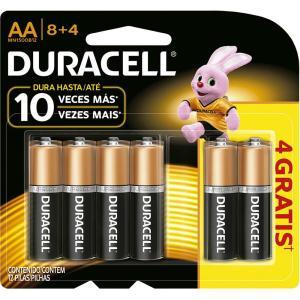 12 Pilhas Duracell AA frete grátis