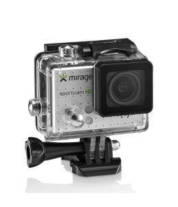 """Camera de Ação Mirage Sport MR3000 Tela LCD 2"""" HD 5MP + 16GB Memória"""
