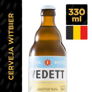 Cerveja Belga VEDETT White Garrafa 330ml - R$10