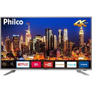 "Smart TV LED 40"" Philco PTV40G50sNS Ultra HD 4k com Conversor Digital 3 HDMI 2 USB Wi-Fi Som Dolby 60Hz Prata - R$1319"