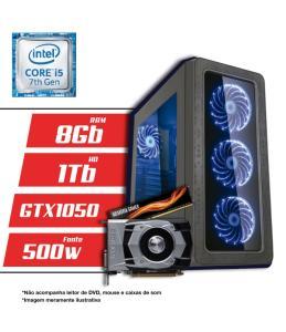 PC Gamer Intel Core i5 7ª Geração 8GB HD 1TB GTX1050 CertoX BRAVE