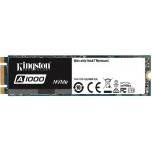 SSD KINGSTON A1000 M.2 480GB SA1000M8/480G PCIE NVME GER 3.0 X 2 LEITURAS: 1.500MB/S E GRAVAÇÕES: 900MB/S
