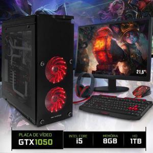 "Computador Gamer Smart Pc SMT80506 Intel Core i5 8GB (Gtx 1050 2GB) 1TB + Monitor 21,5"" | R$2.393"