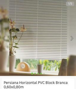 Persiana Horizontal PVC Block Branca 0,60x0,80m
