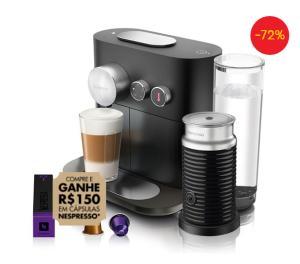 Máquina de Café Nespresso Expert C80 com Aeroccino e Kit Boas Vindas - Preta | R$260