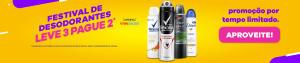 [Leve 3 Pague 2] Desodorantes Dove e Rexona (Masculino e Feminino) por R$ 7,33 cada!