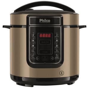 Panela Elétrica de Pressão Philco PPPC01 Digital 6 Litros Inox – Champanhe - R$62