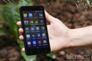 "Smartphone Multilaser MS50 Senior Preto com Tela 5.0"", Android 5.0, Câmera 8MP, Quad Core"