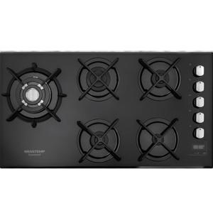 Cooktop 5 bocas Brastemp Gourmand com quadrichama e timer touch - BDT86AE - BIVOLT - R$1282