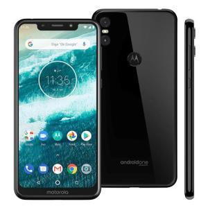 """Smartphone Motorola One XT1941 Preto 64GB Tela de 5,9"""", Dual Chip, Android 8.1, Processador Octa-Core e 4GB de RAM - R$1274"""