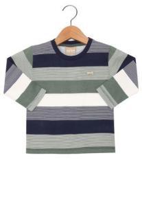 Camiseta Milon Manga Longa Menino Verde - R$24