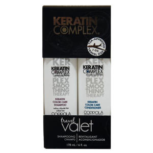 Kit Keratin Complex Smoothing Therapy: Shampoo + Condicionador Keratin Color Care R$32