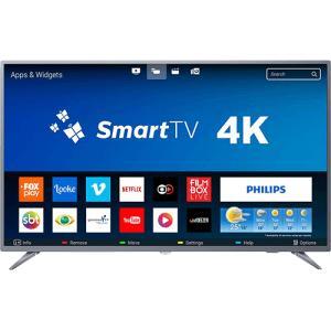 "Smart TV LED 50"" Philips 50PUG6513/78 Ultra HD 4k com Conversor Digital 3 HDMI  por R$ 1980"