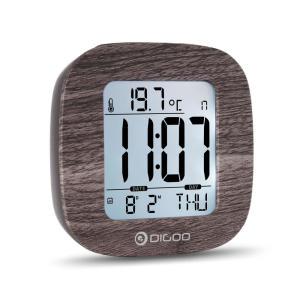 Relógio Eletrônico Multifuncional Digital Digoo DG-C1 com Termômetro - Preto | R$13