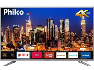 "Smart TV LED 40"" Philco PTV40G50sNS Ultra HD 4k com Conversor Digital 3 HDMI 2 USB Wi-Fi Som Dolby 60Hz Prata"