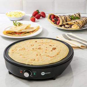 Máquina de Crepe Francês Fun Kitchen Preto - R$90