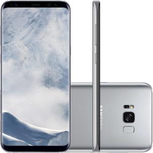 "Smartphone Samsung Galaxy S8 Dual Chip Android 7.0 Tela 5.8"" Octa-Core 2.3GHz 64GB 4G Câmera 12MP - Prata - R$1799"