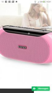 Caixa de Som Portátil 4W RMS Bluetooth EDIFIER MP211 • Rosa