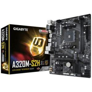 Placa-Mãe GIGABYTE p/ AMD AM4 mATX GA-A320M-S2H, 2xDDR4 32GB, HDMI, DVI, M.2, PCIe, USB 3.1 Ger 1 R$300