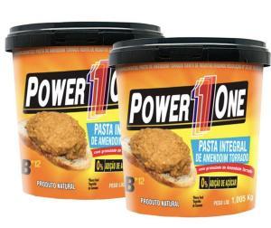 Combo Pasta de Amendoim Integral Crocante Power One (1kg Cada) R$17 [Ou R$15 pagando com AME]