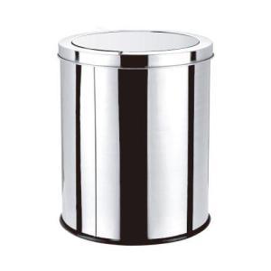 Lixeira Basculante Em Aço Inox 5l - Clink | R$50