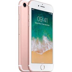 iPhone 7 256GB Ouro Rosa Desbloqueado IOS 10 Wi-fi + 4G Câmera 12MP - Apple por R$ 2570