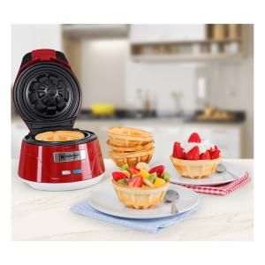 Máquina de Waffle Cadence Bowl/Cestinha Vermelha/Branca - R$93