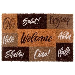 Boas-vindas Capacho - tapete marrom | R$33