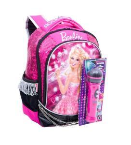 Mochila Infantil Escolar Tam. M Sestini Barbie - Rock In Royals com Microfone