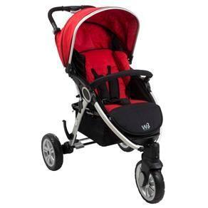 Carrinho de Bebê Burigotto W3 - Red Black por R$ 799