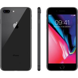 """[BOLETO] iPhone 8 Plus Cinza Espacial 64GB Tela 5.5"""" IOS 11 4G Wi-Fi Câmera 12MP R$3167"""