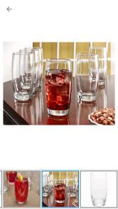 Jogo de copos Nadir Long com 6 peças