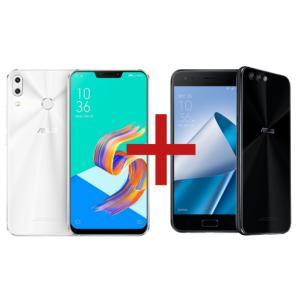 ZenFone 5 4GB/128GB Branco + Zenfone 4 4GB/128GB Snapdragon 660 Preto - R$3099