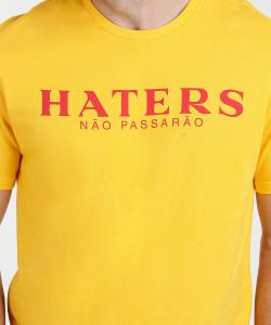 Camiseta Masculina Estampa Haters Manga Curta Marisa