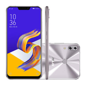 "Smartphone Asus Zenfone 5 ZE620KL-1H024BR 64GB Prata 4G Tela 6.2"" Câmera 12MP Android 8.0 - R$1649"