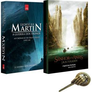 Livro - O Encontro dos Clássicos: Tolkien & George R. R. Martin + Pin Exclusivo - R$23