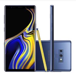 "Smartphone Samsung Galaxy Note 9 SM-N9600ZBJZTO 128GB Azul Tela 6.4"" Câmera 12MP Android 8.0 R$3499"