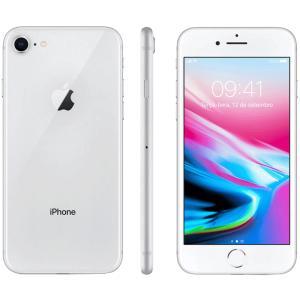 "iPhone 8 64GB Prata Tela 4.7"" IOS 4G Câmera 12MP - Apple R$3.554"