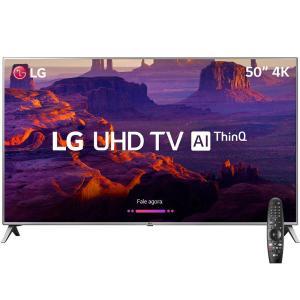 Smart TV LED 50'' Ultra HD 4K LG 50UK6510 com Inteligencia Artificial ThinQ AI + Controle Lg Smart Magic