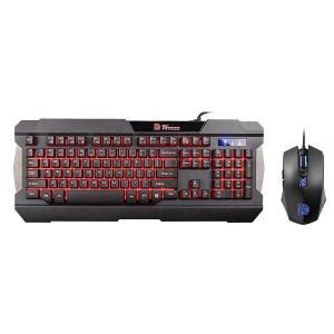 Kit Teclado e mouse Thermaltake Commander Combo/Multi Backlit, KB-CCM-PLBLPB-01 - R$129