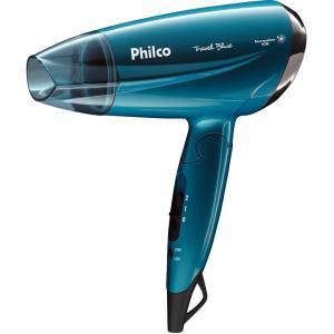 Secador de Cabelos Philco PSC02 Travel Azul - 1200W - R$52