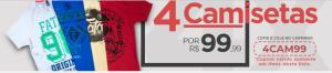4 Camisetas por R$ 100
