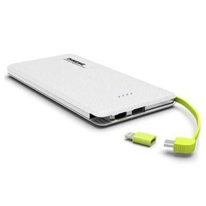[APENAS APP] Carregador portátil pineng 10000mAh dual USB PN951 - Branco - R$34
