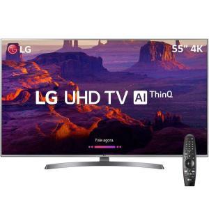 (AME) Smart TV LED 55'' Ultra HD 4K LG 55UK6530 com IPS HDR10Pro + Controle Lg Smart Magic (receba 557,80 pagando com AME)